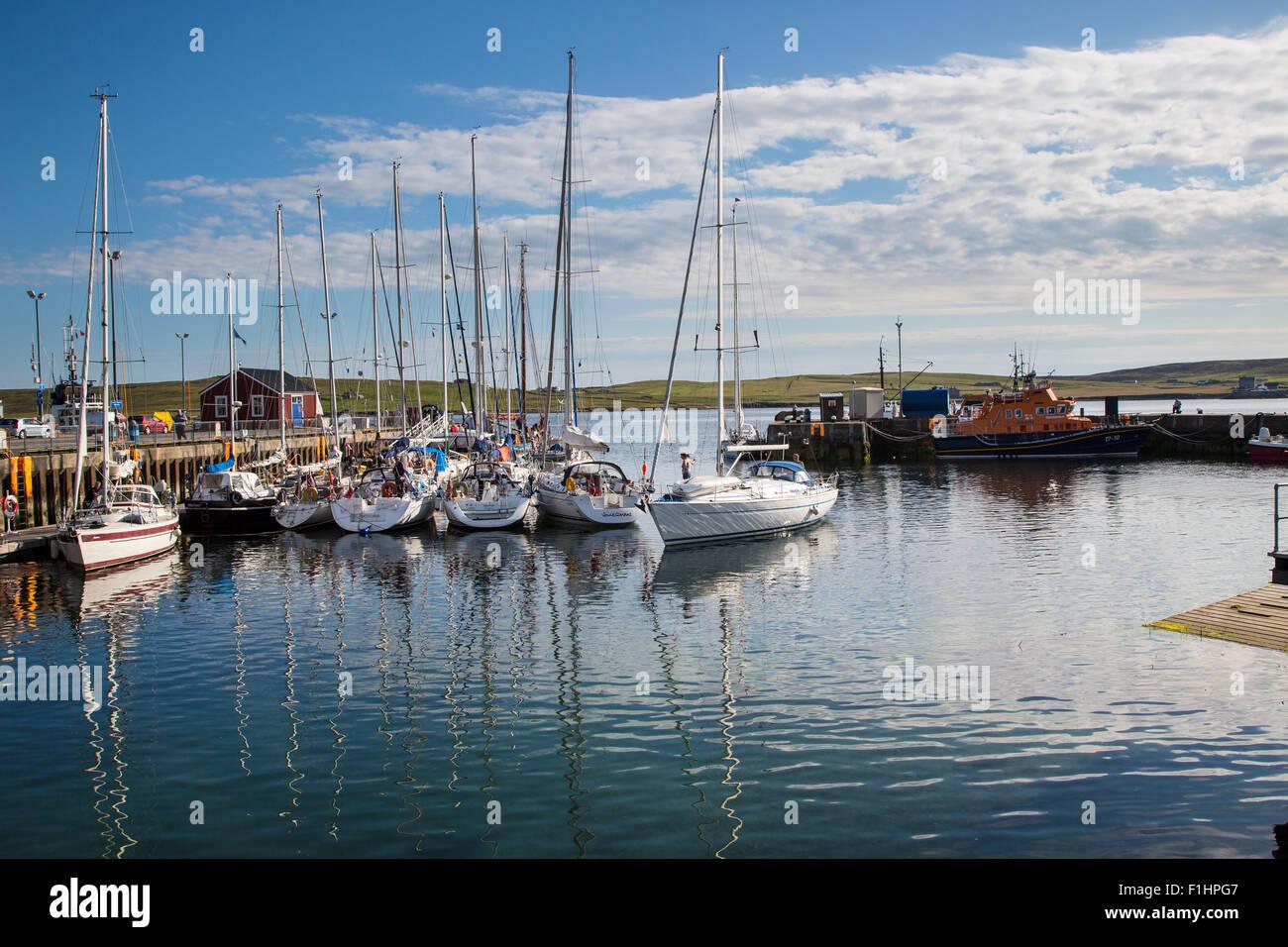The Harbour Lerwick, Shetland Islands, Scotland - Stock Image