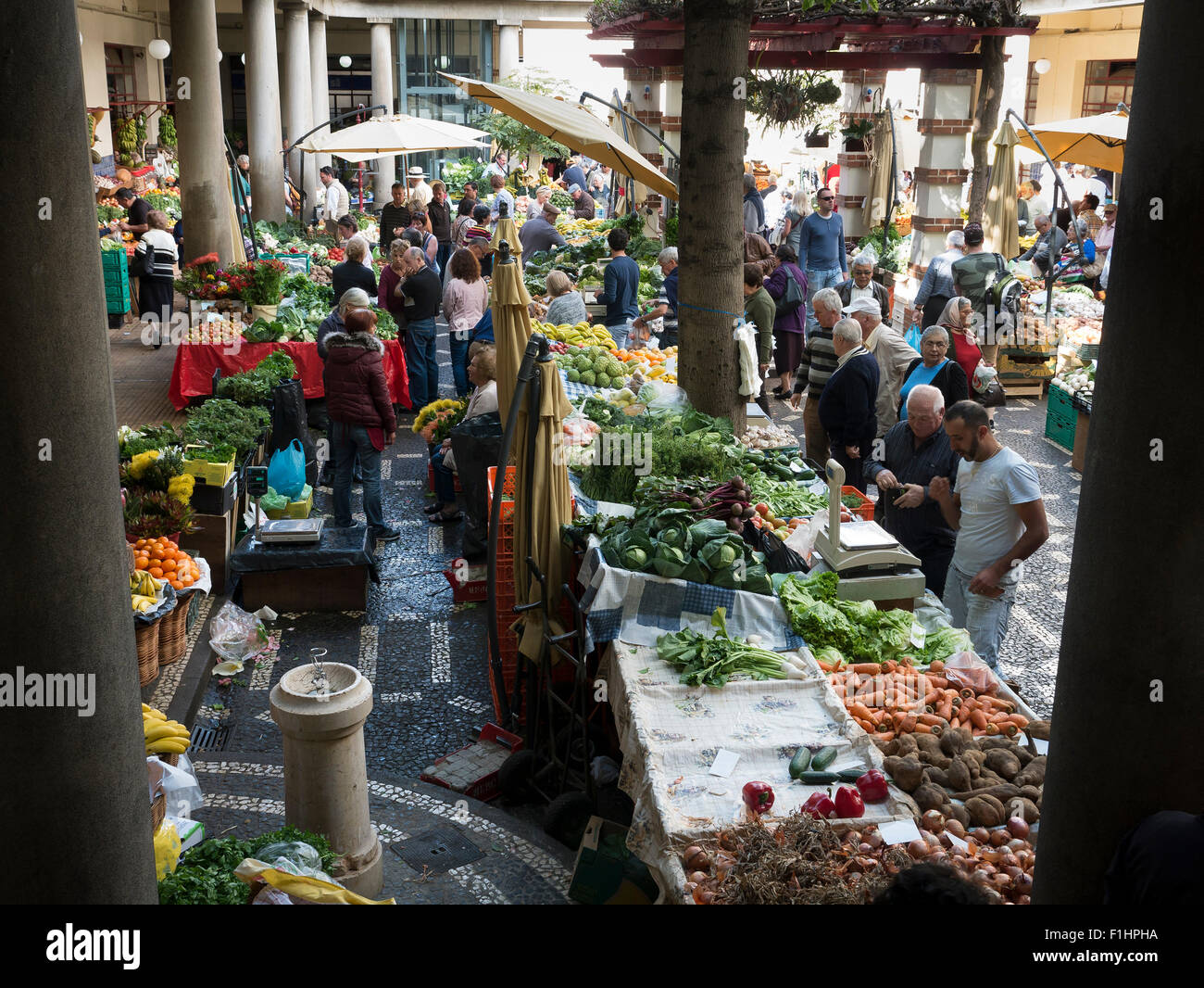 The Fruit, Vegetable and Flower Market, Funchal, Madeira, Portugal - Stock Image