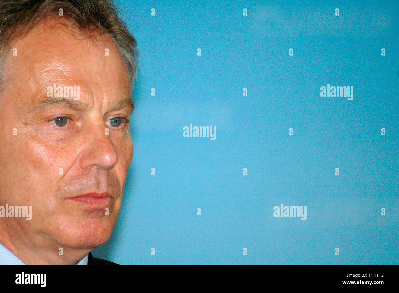Tony Blair - Pressetermin mit der dt. Bundeskanzlerin anlaesslich der Uebergabe von Unterschriften der Aktion 'Global - Stock Image