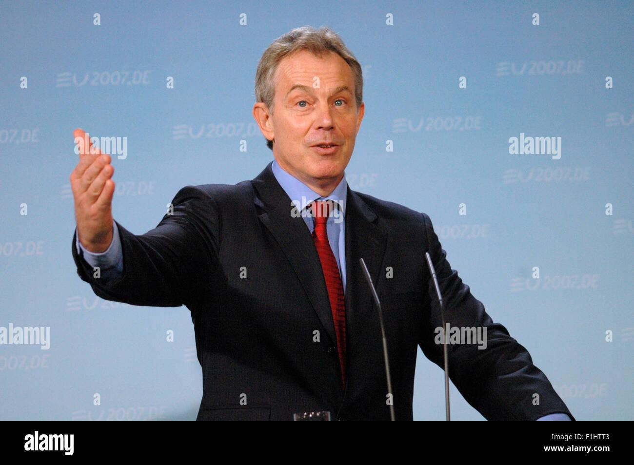 Tony Blair - Treffen der dt. Bundeskanzlerin mit dem britischen PM am 13. Februar 2007, Bundeskanzleramt, Berlin - Stock Image