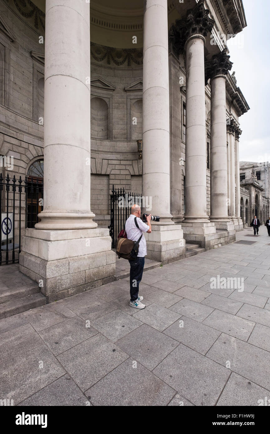 The Four Courts building on Inns Quay, Dublin. Scene of heavy fighting during the 1916 Easter uprising. Ireland. - Stock Image