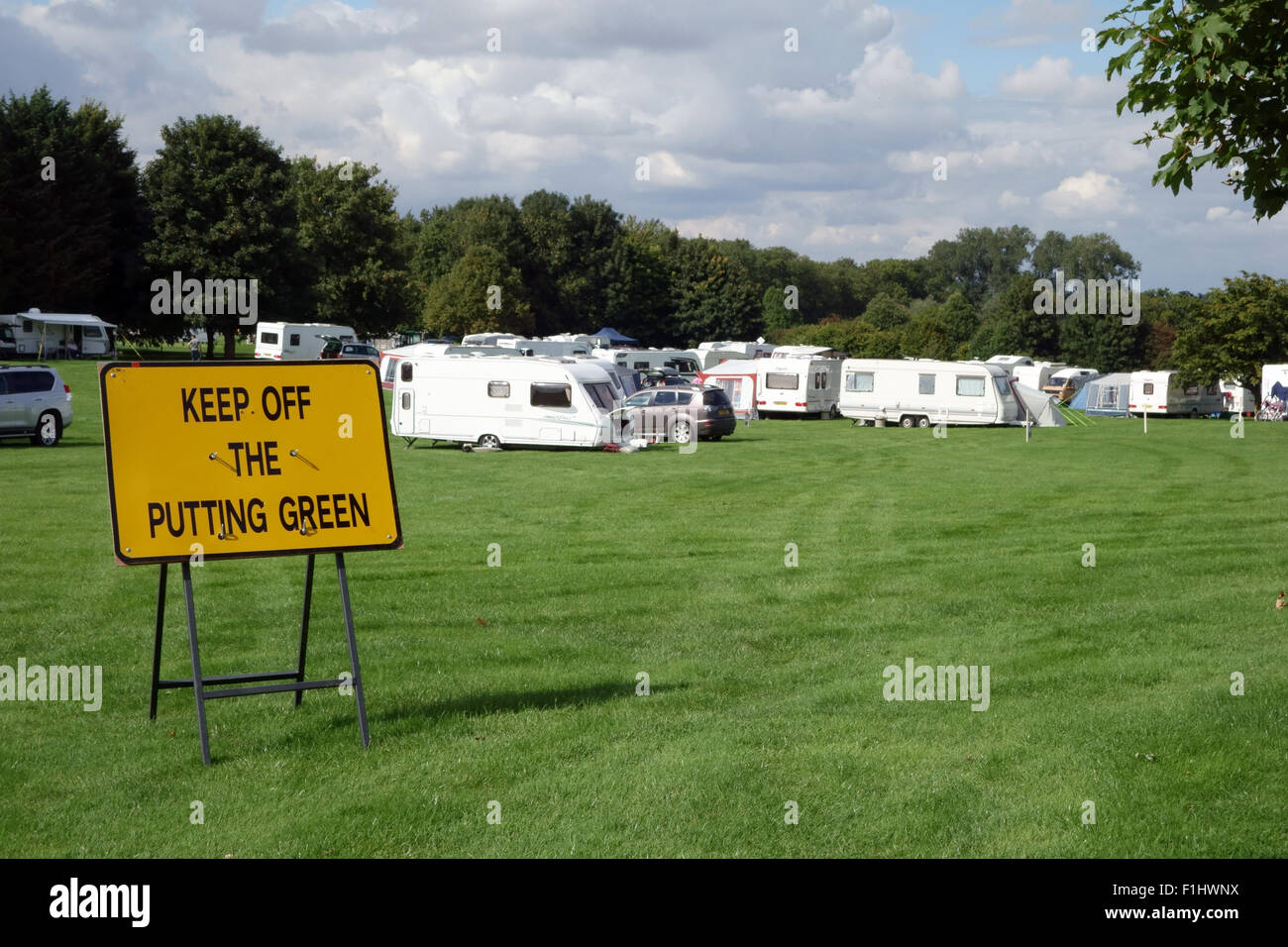 Caravans Parked On Burghley Golf Club For Burghley Landrover Horse