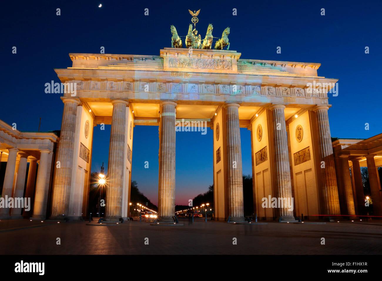 Pariser Platz mit dem Brandenburger Tor, Berlin-Mitte. - Stock Image