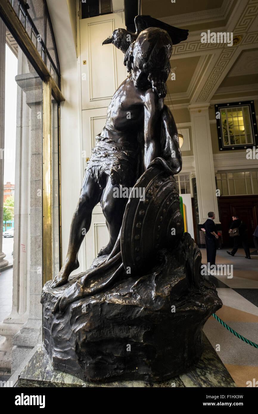 Bronze Statue By Oliver Sheppard Of Cú Chulainn Also Spelt Cú