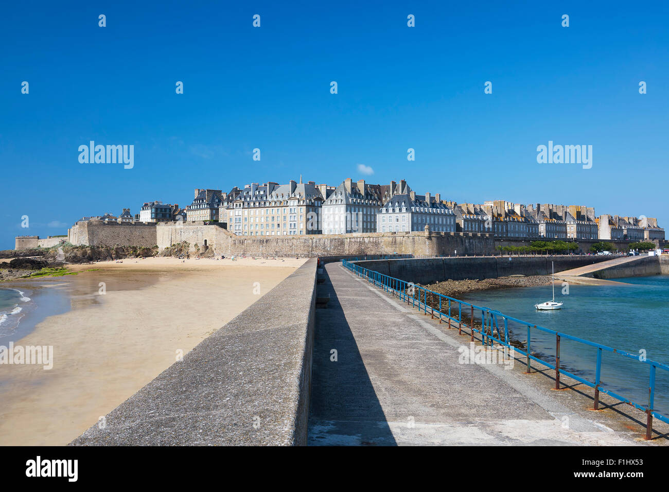 View of Saint Malo, Bretagne, France - Stock Image