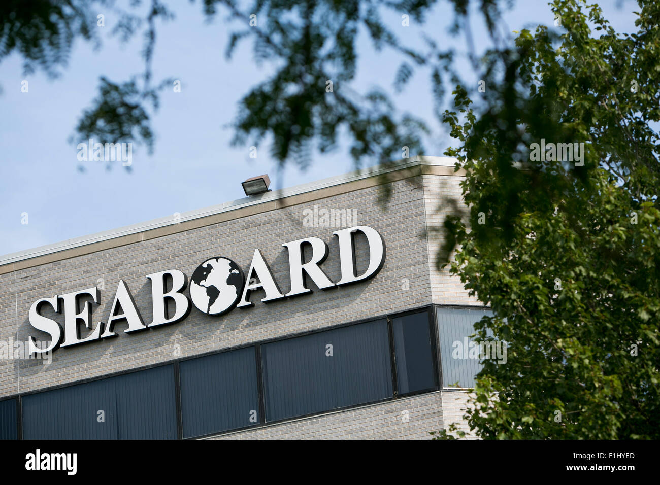 A logo sign outside the headquarters of the Seaboard Corporation in Merriam, Kansas on August 23, 2015. - Stock Image