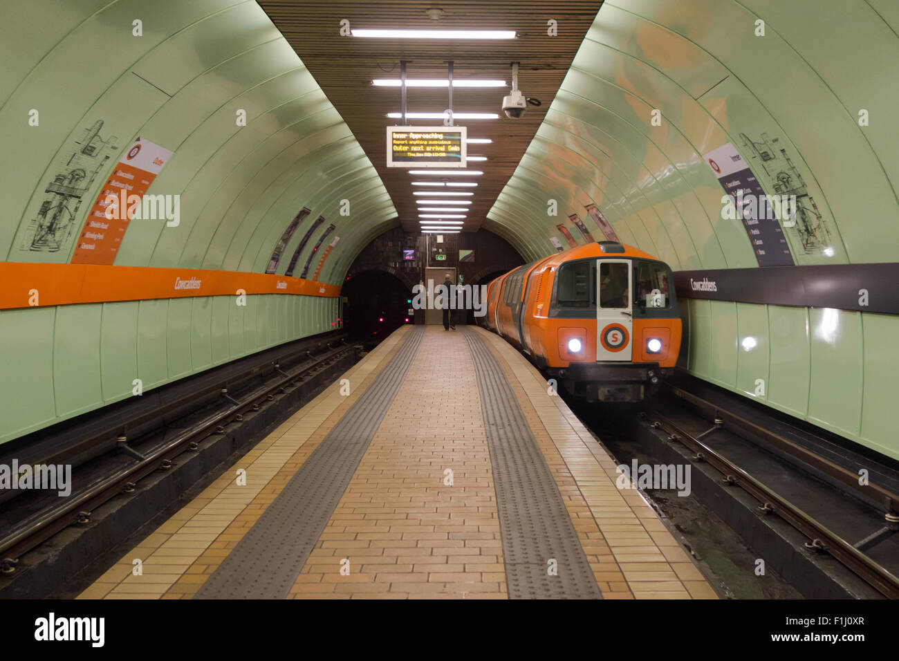 Glasgow Subway Cowcaddens Station, Glasgow, Scotland, UK - Stock Image