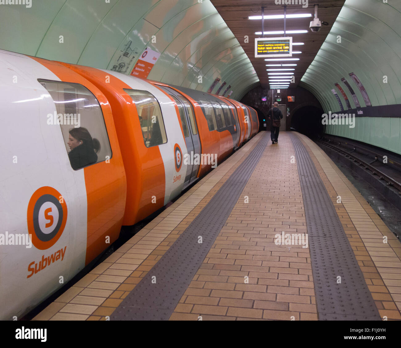 Cowcaddens Glasgow Subway Station - Stock Image