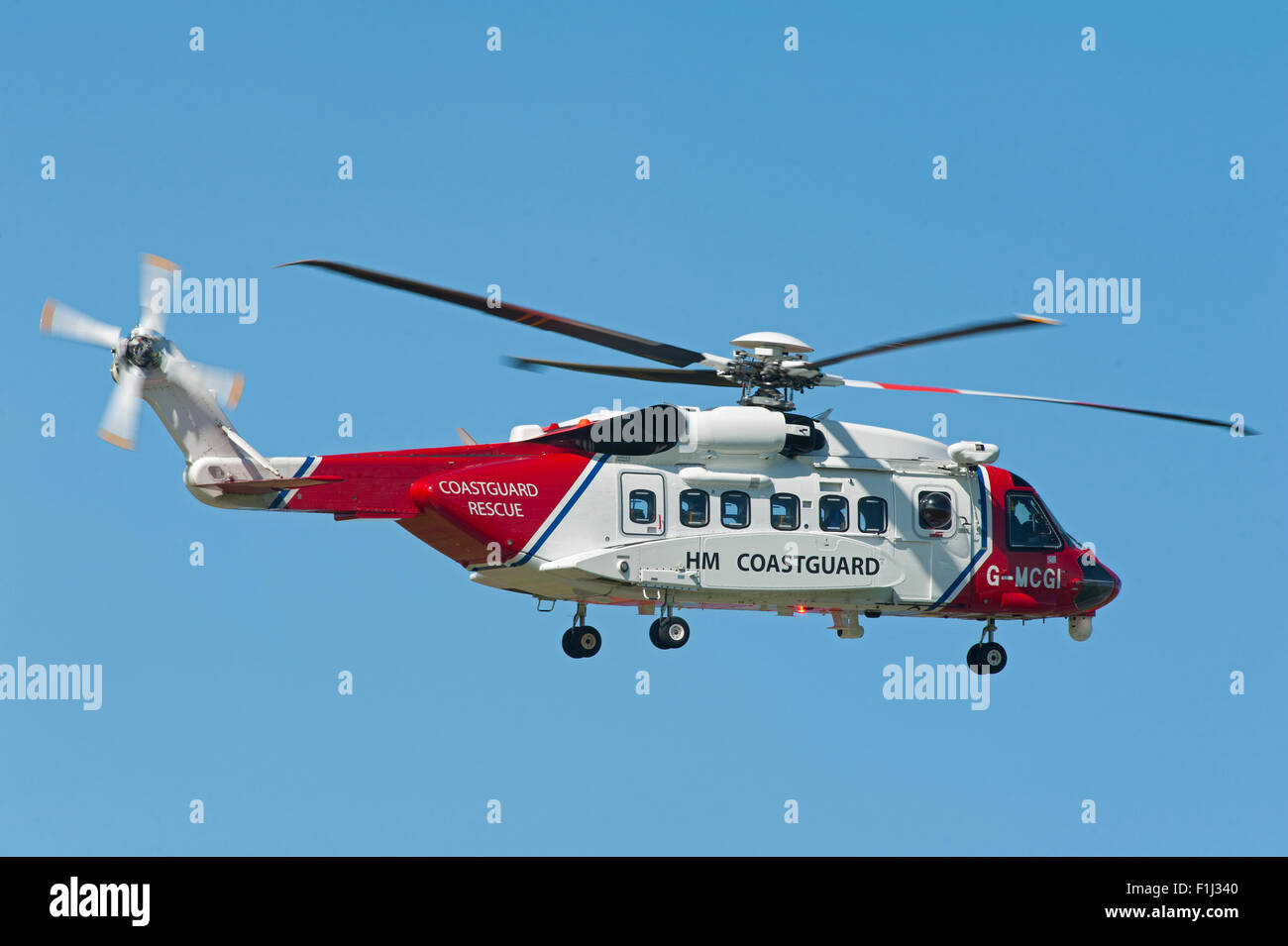 Sikorsky S-92A Coastguard SAR Helicopter (G-MCGI) based at Inverness.  SCO 10,074. - Stock Image