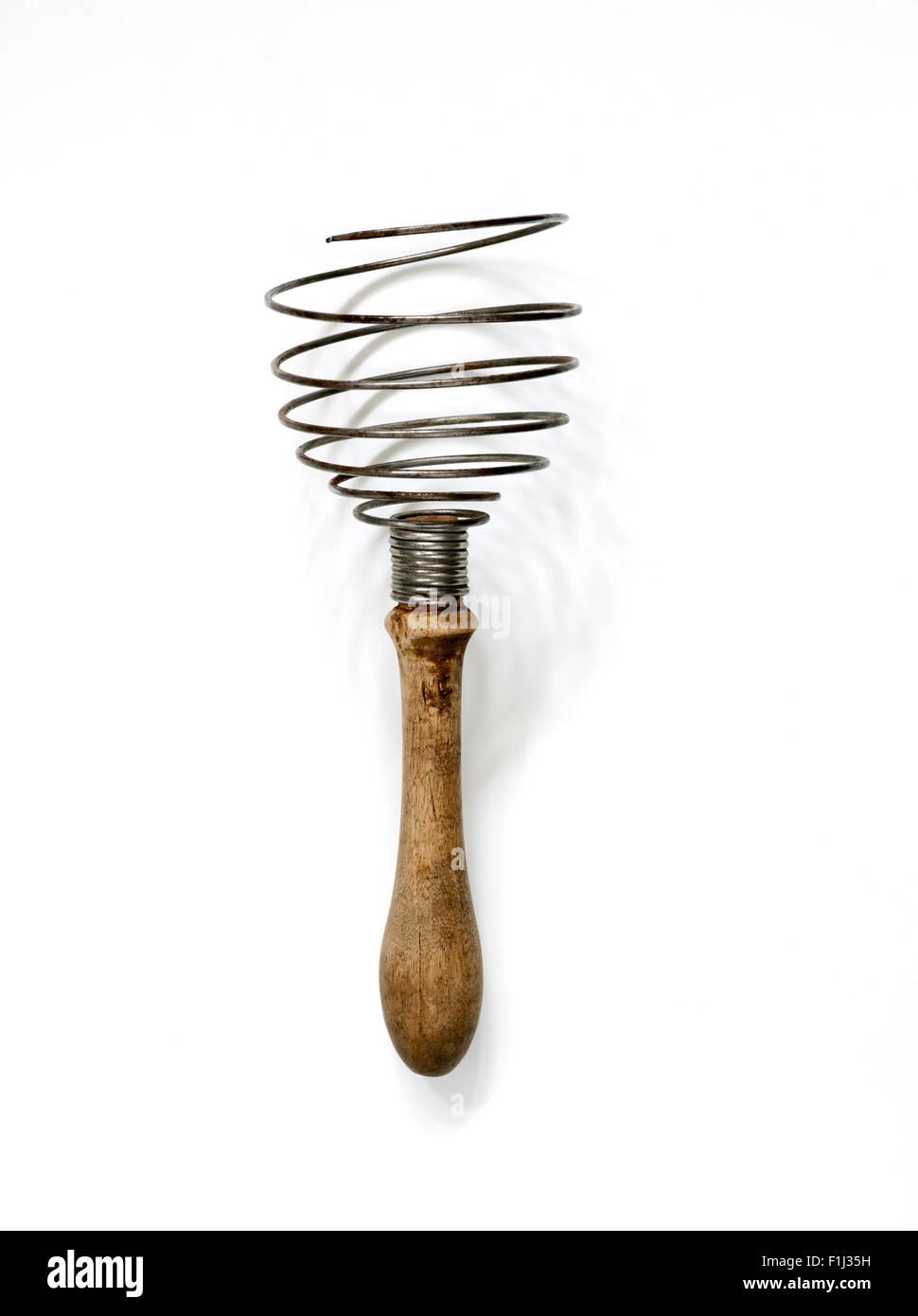 Old Vintage Kitchen Whisk - Stock Image
