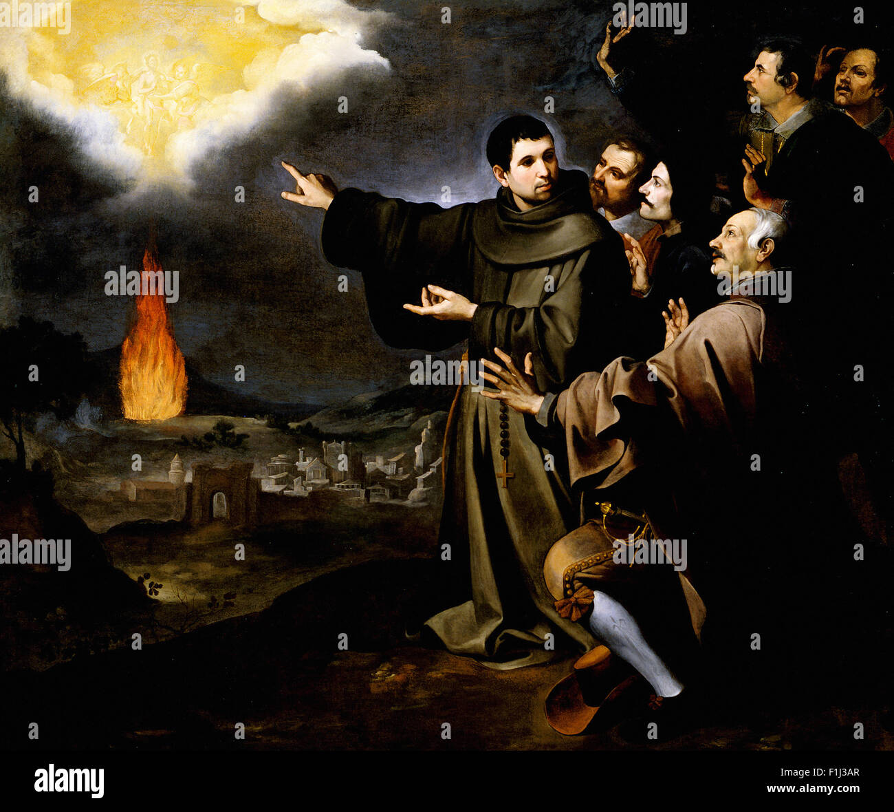 Bartolomé Esteban Murillo - Fray Julián of Alcalá's Vision of the Ascension of the Soul of King Philip II of Spain Stock Photo