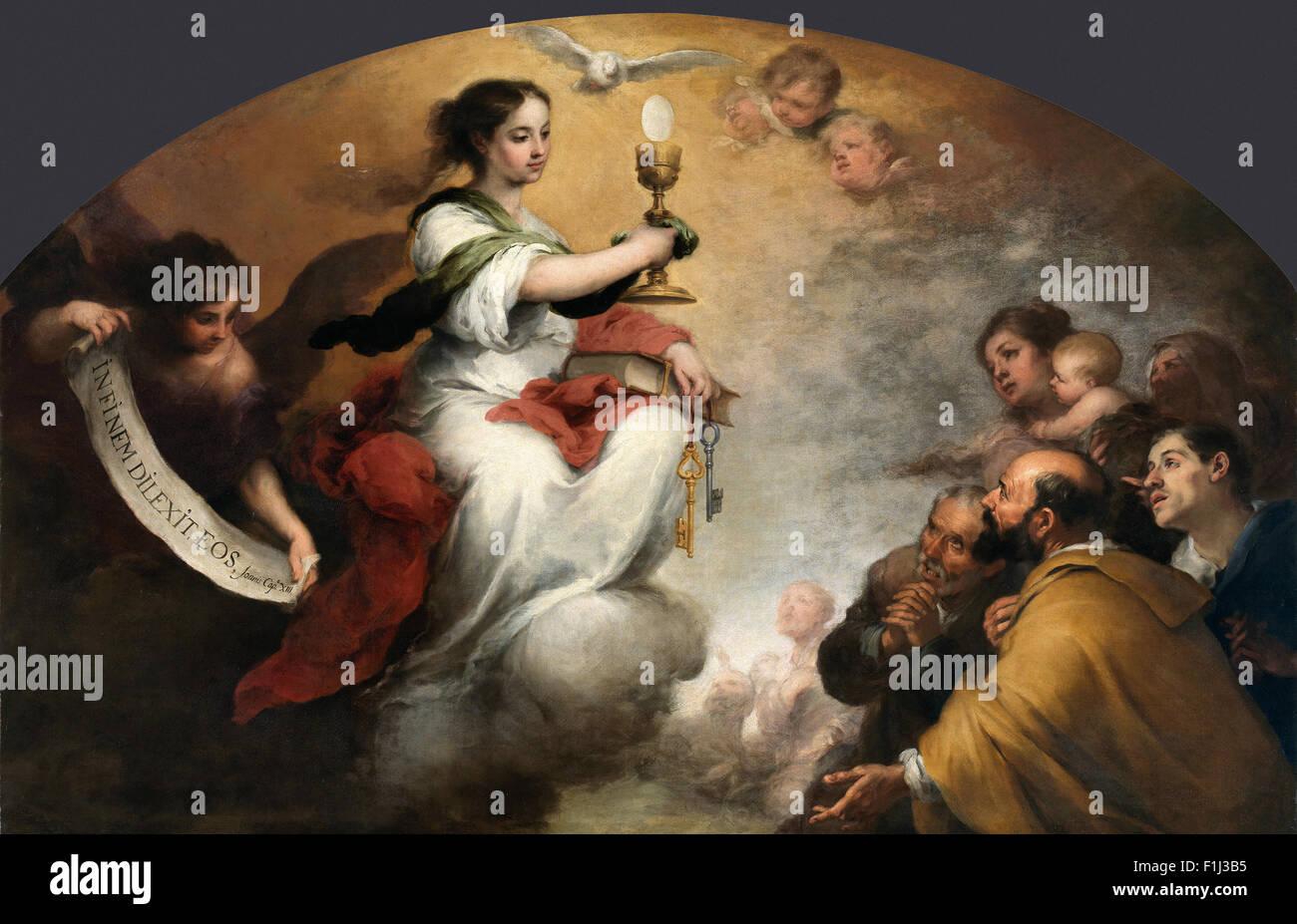 Bartolomé Esteban Murillo - Faith or the Church Triumphant - Stock Image