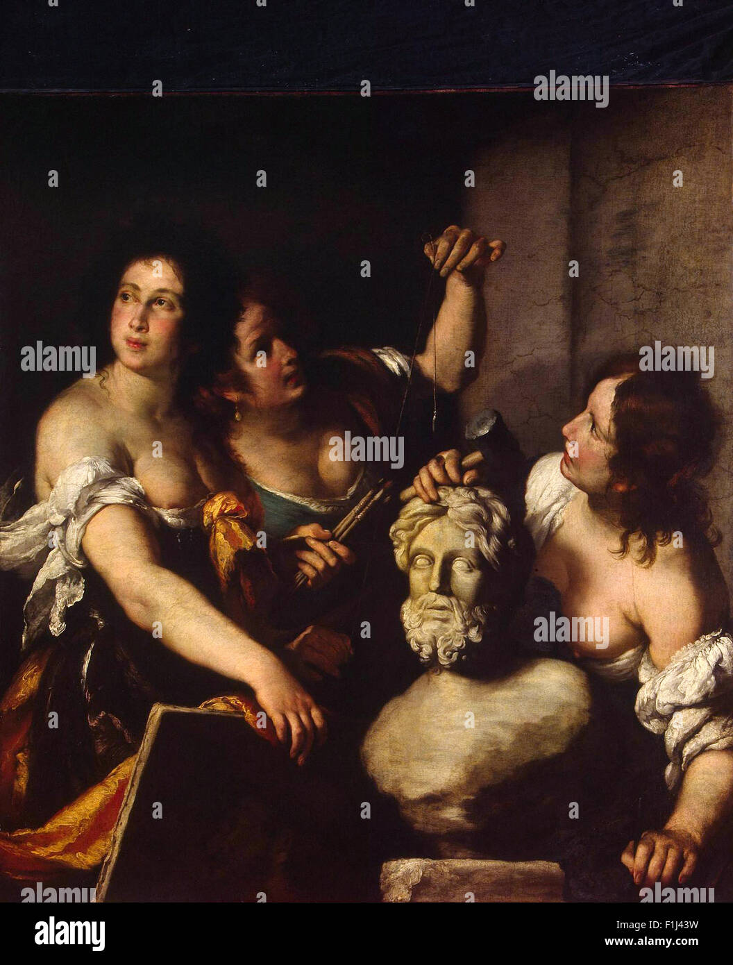 Bernardo Strozzi - Allegory of the Arts - Stock Image