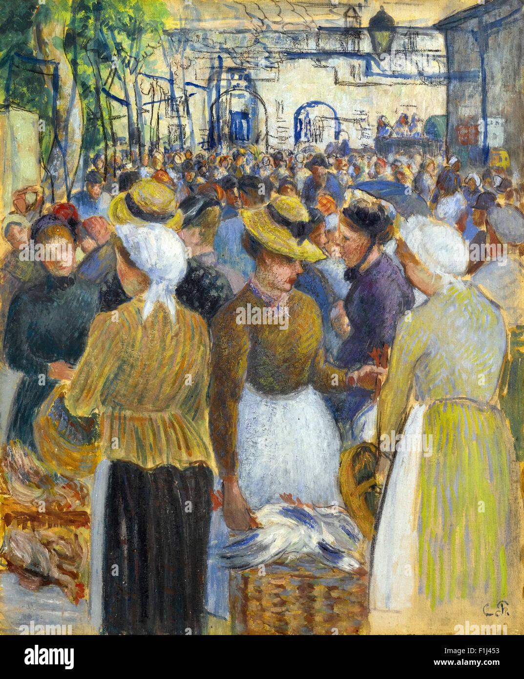 Camille Pissarro - Marché à la Volaille à Gisors - Stock Image