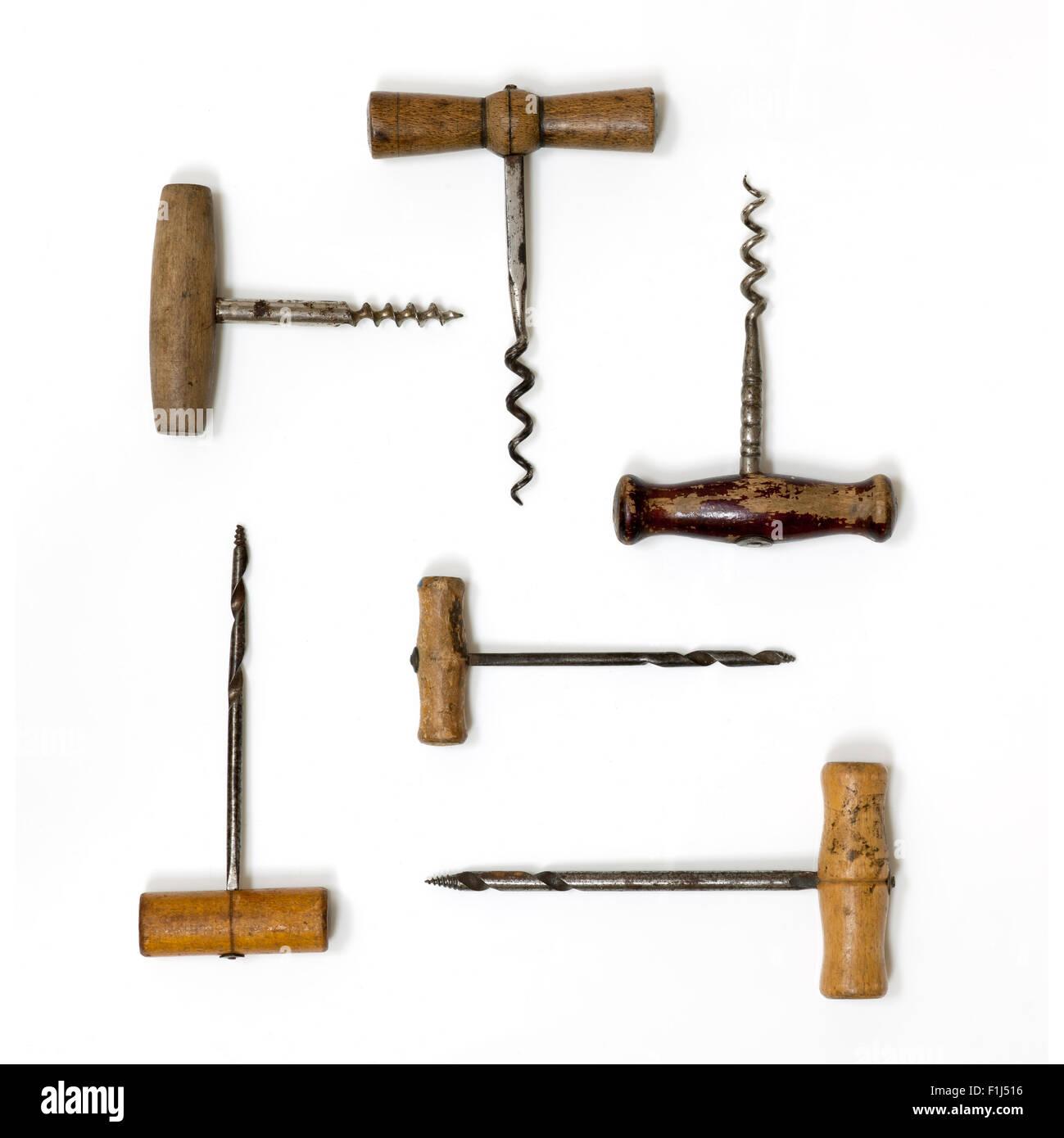Old Vintage Corkscrews - Stock Image