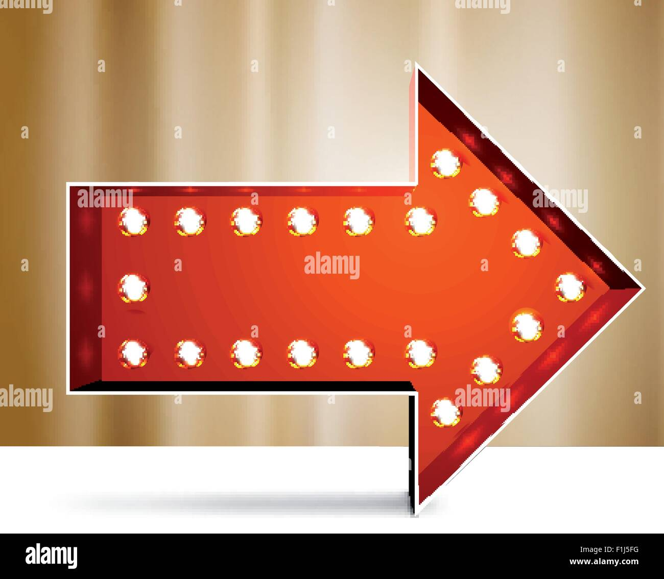 Vector marquee arrow symbo - Stock Image
