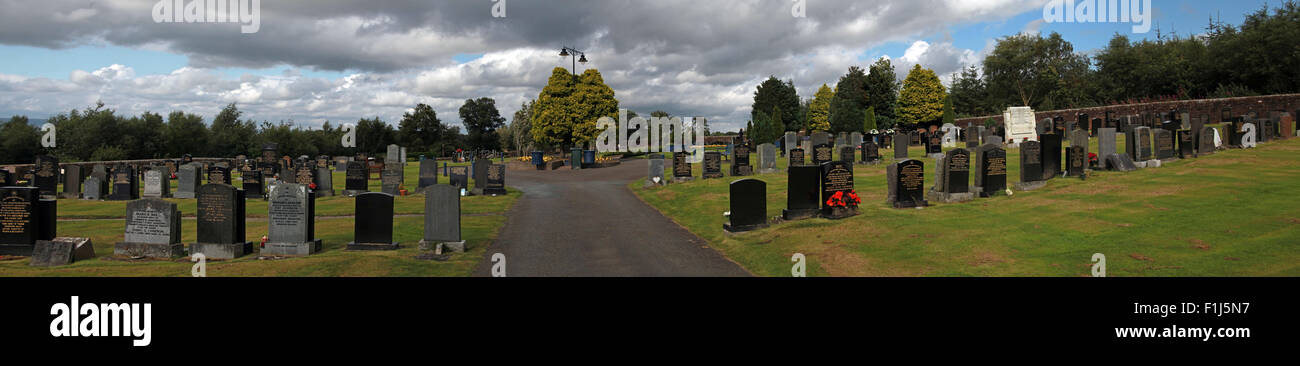 Wide shot of the path to the Lockerbie PA103 memorial,in summer,Scotland,UK Stock Photo