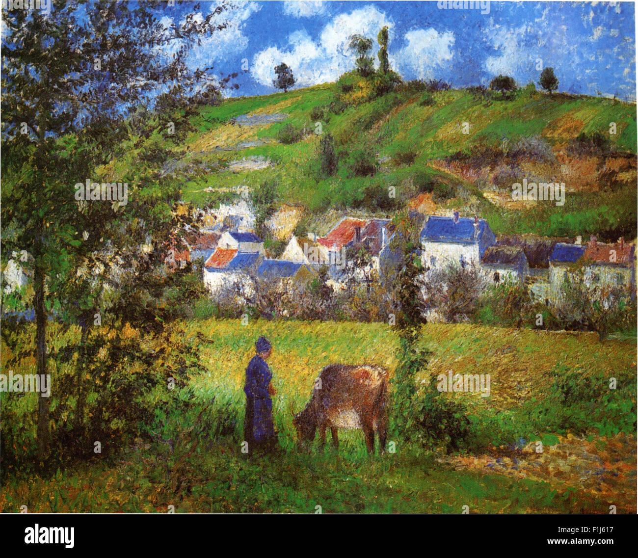 Camille Pissarro - Paysage à Chaponval - Stock Image