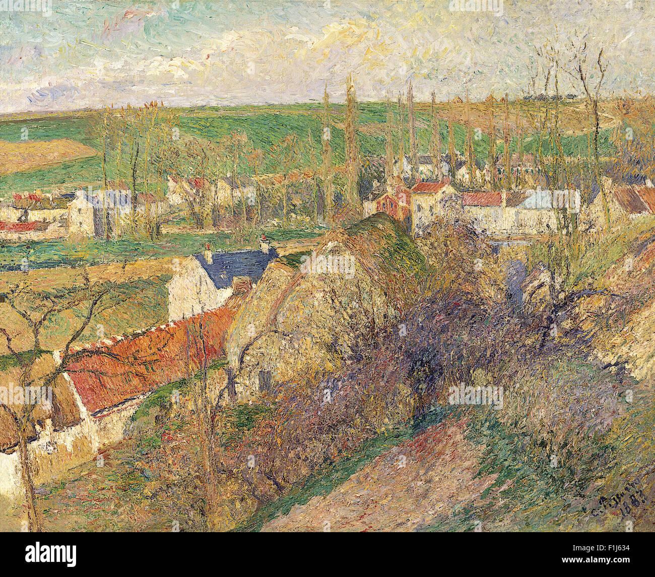 Camille Pissarro - Vue sur le village d'Osny - Stock Image
