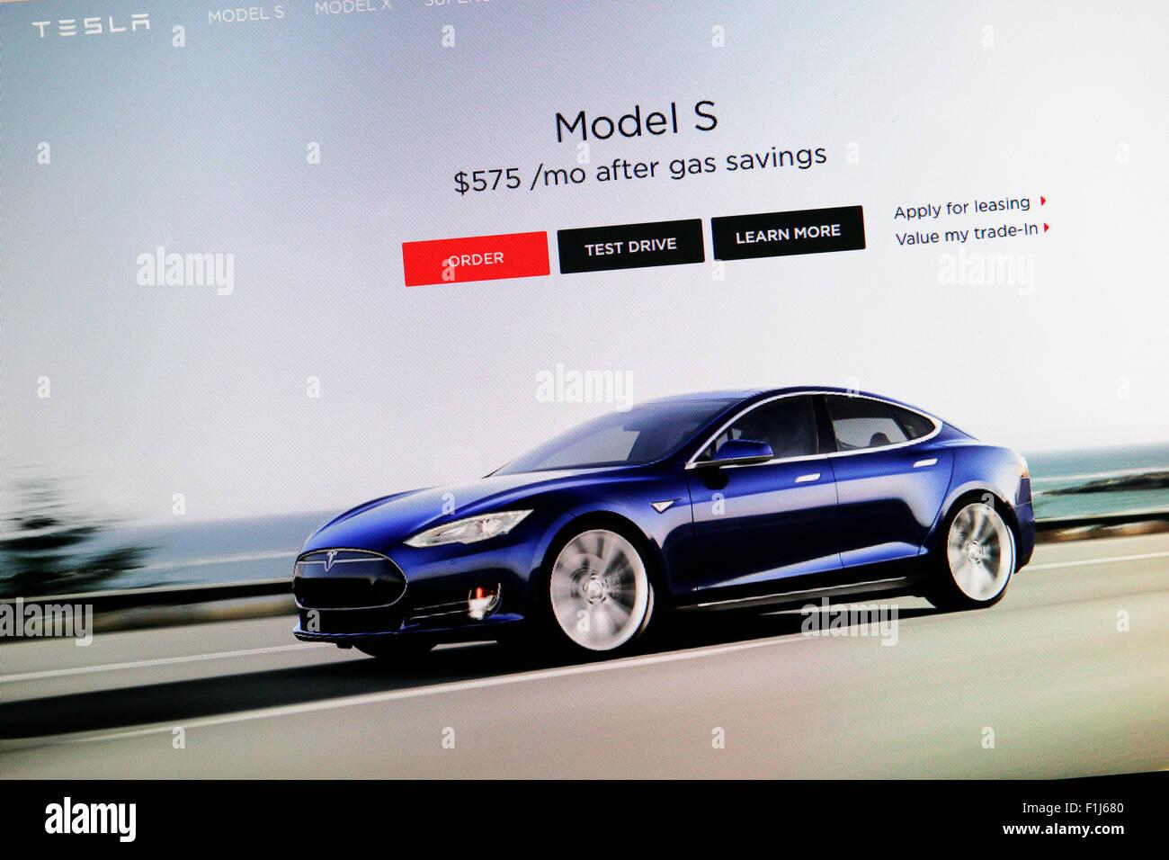 Tesla S - Stock Image
