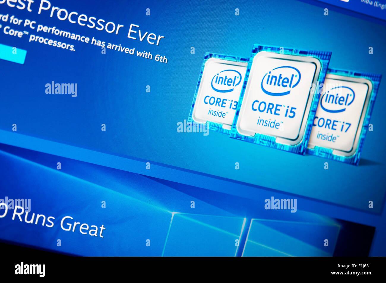 Intel Processors - Stock Image