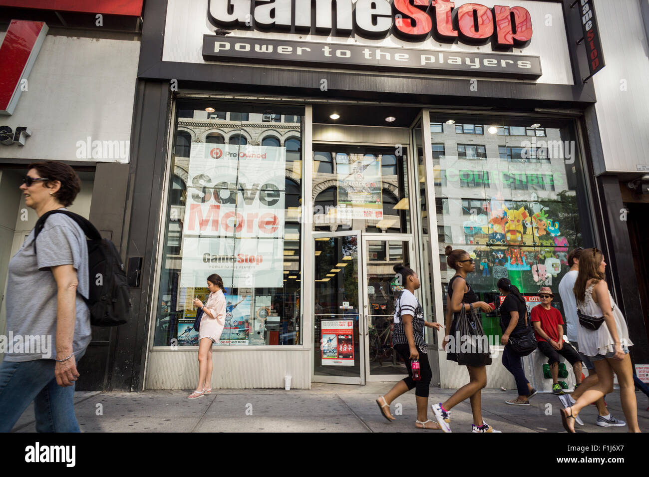 A GameStop video game store in New York on Saturday, August