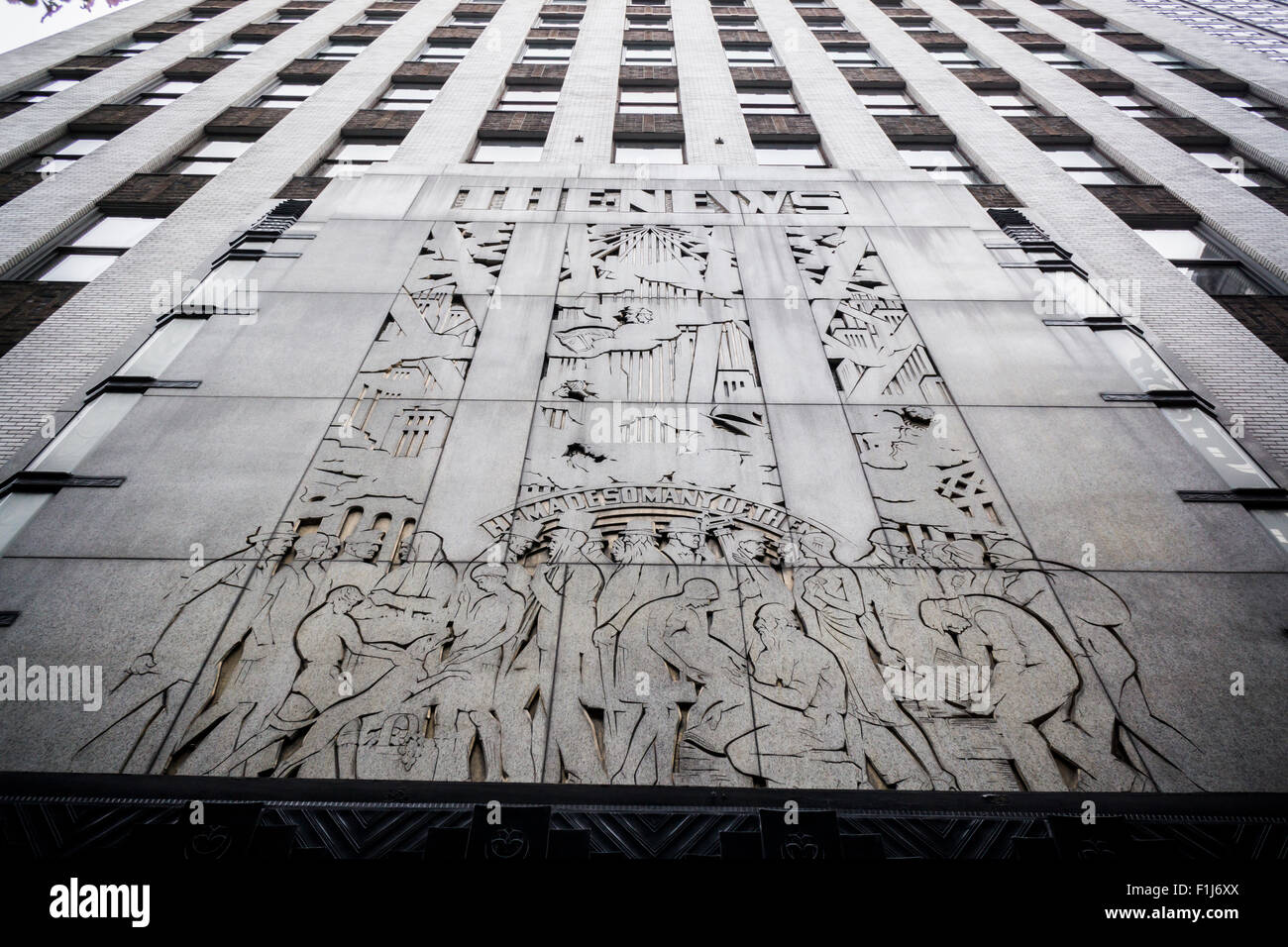 The Daily News Building In Midtown Manhattan In New York On Sunday