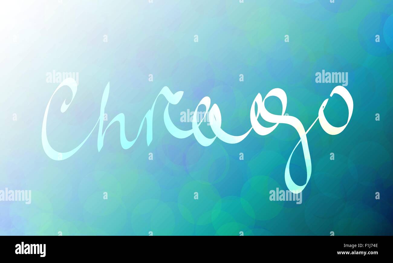 Chicago, hand written - Stock Image
