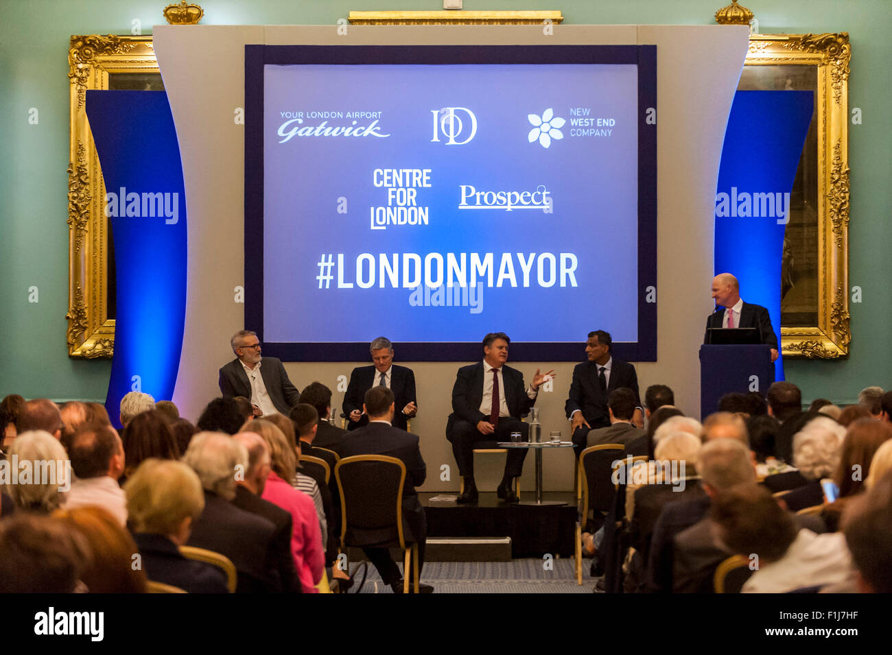 London, UK.  2 September 2015.  Centre for London and Prospect Magazine host a major hustings debate, at the Institute - Stock Image