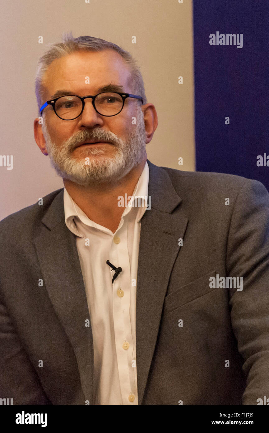 London, UK.  2 September 2015.  Andrew Boff speaks as Centre for London and Prospect Magazine host a major hustings - Stock Image