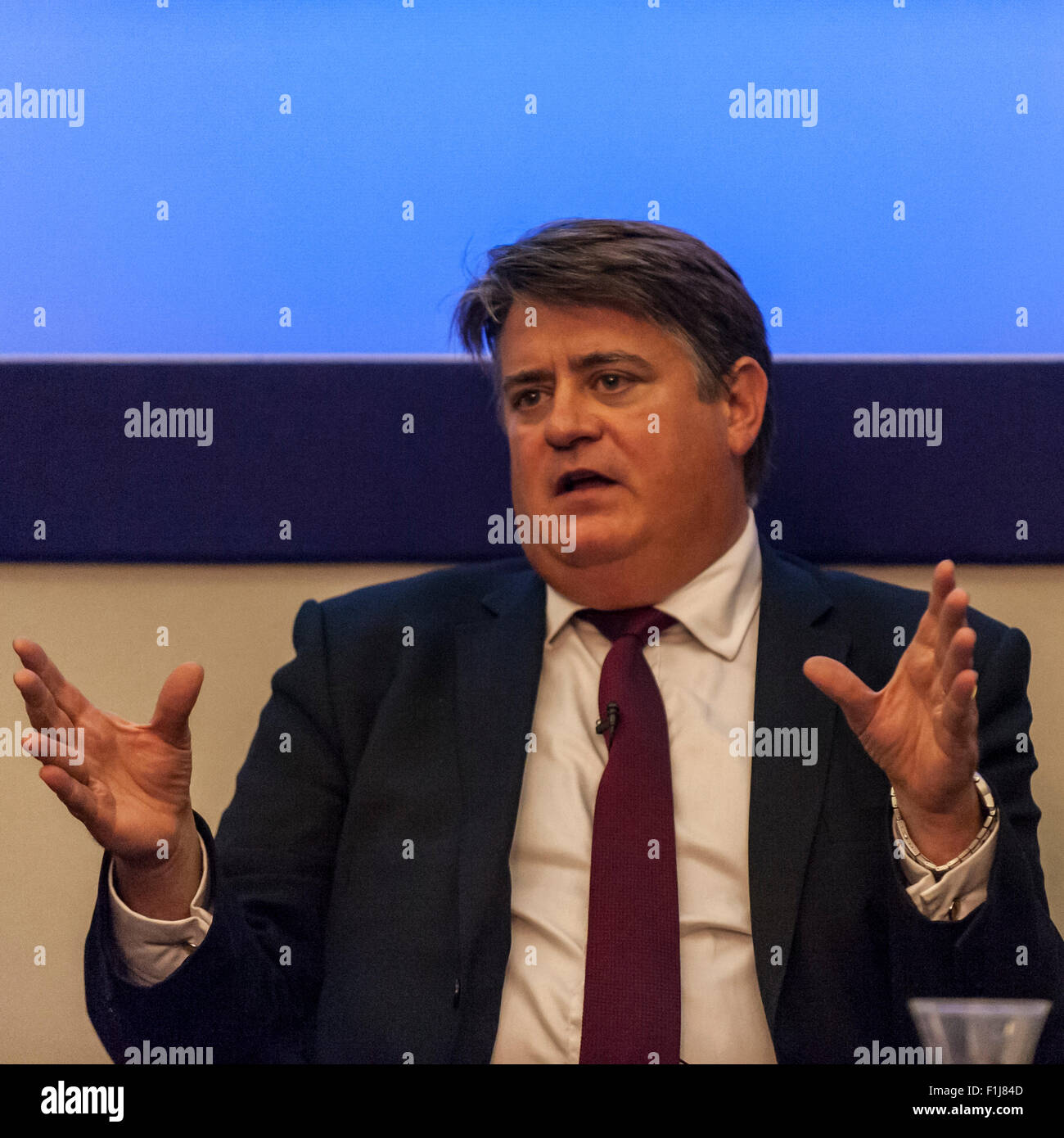 London, UK.  2 September 2015.  Stephen Greenhalgh speaks as Centre for London and Prospect Magazine host a major - Stock Image