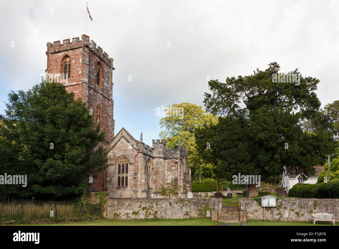 'The Church of the Holy Ghost' Crowcombe, at the foot of the Quantock Hills. - Stock Image