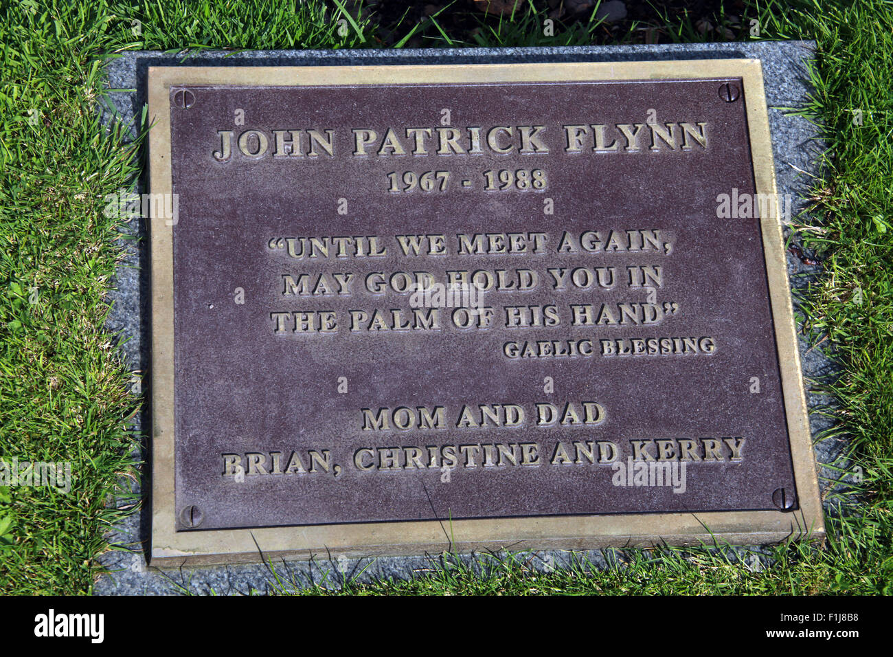 Lockerbie PanAm103 In Rememberance Memorial John Patrick Flynn,Scotland - Stock Image