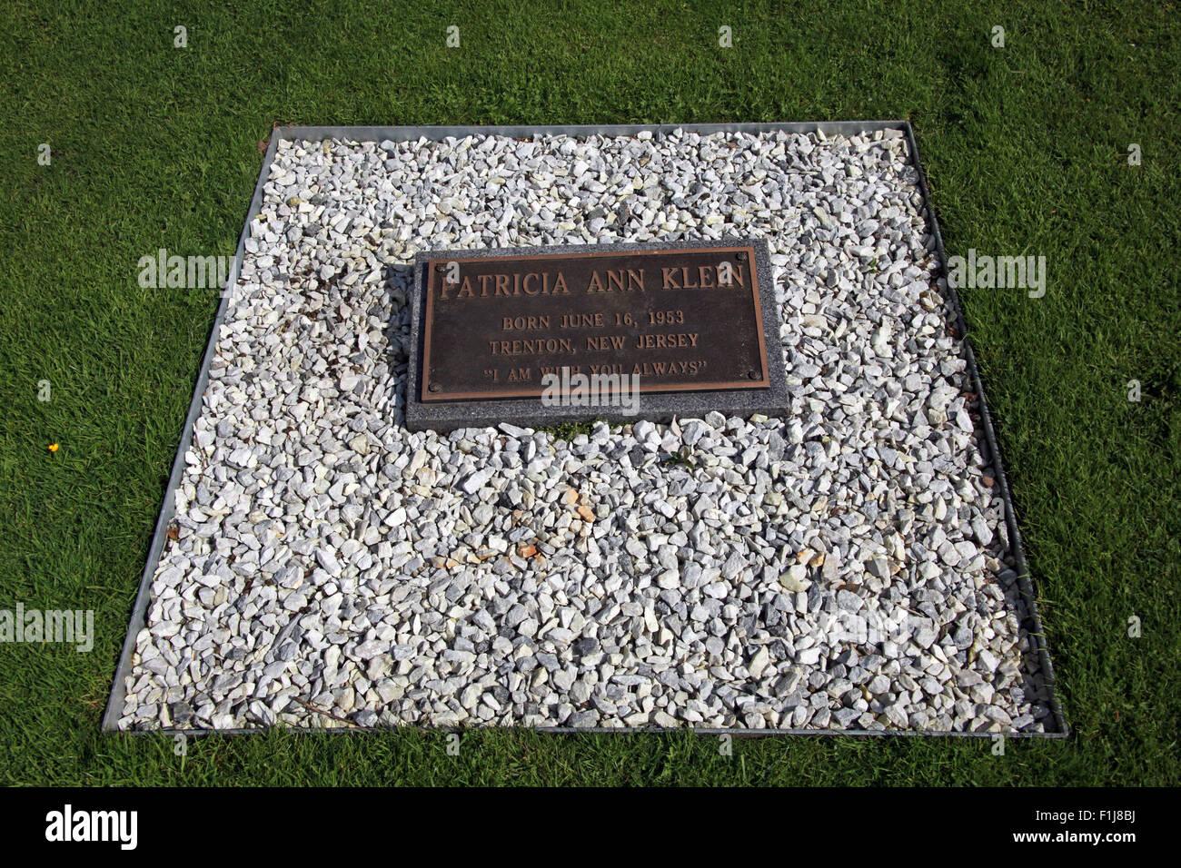 Lockerbie PanAm103 In Rememberance Memorial Patricia Ann Klein,Scotland Stock Photo