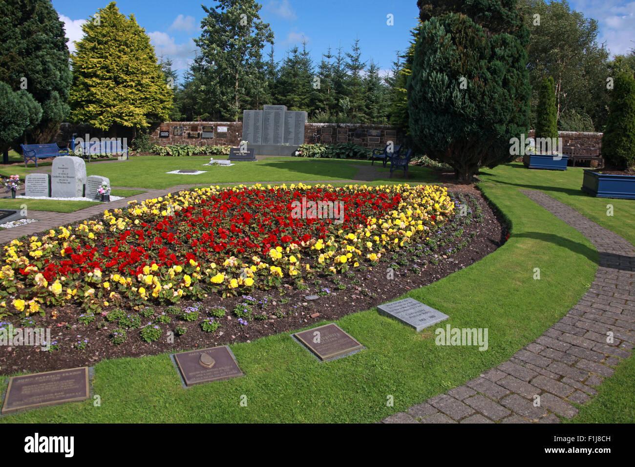 Lockerbie PanAm103 In Rememberance Memorial Garden,Scotland - Stock Image