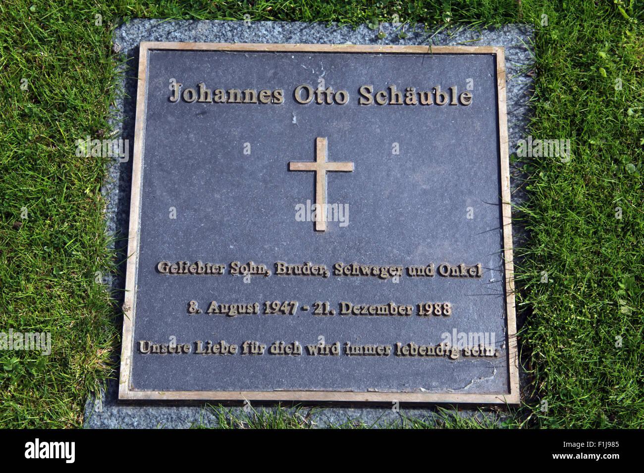 Lockerbie PanAm103 In Rememberance Memorial Johannes Otto Schauble,Scotland Stock Photo