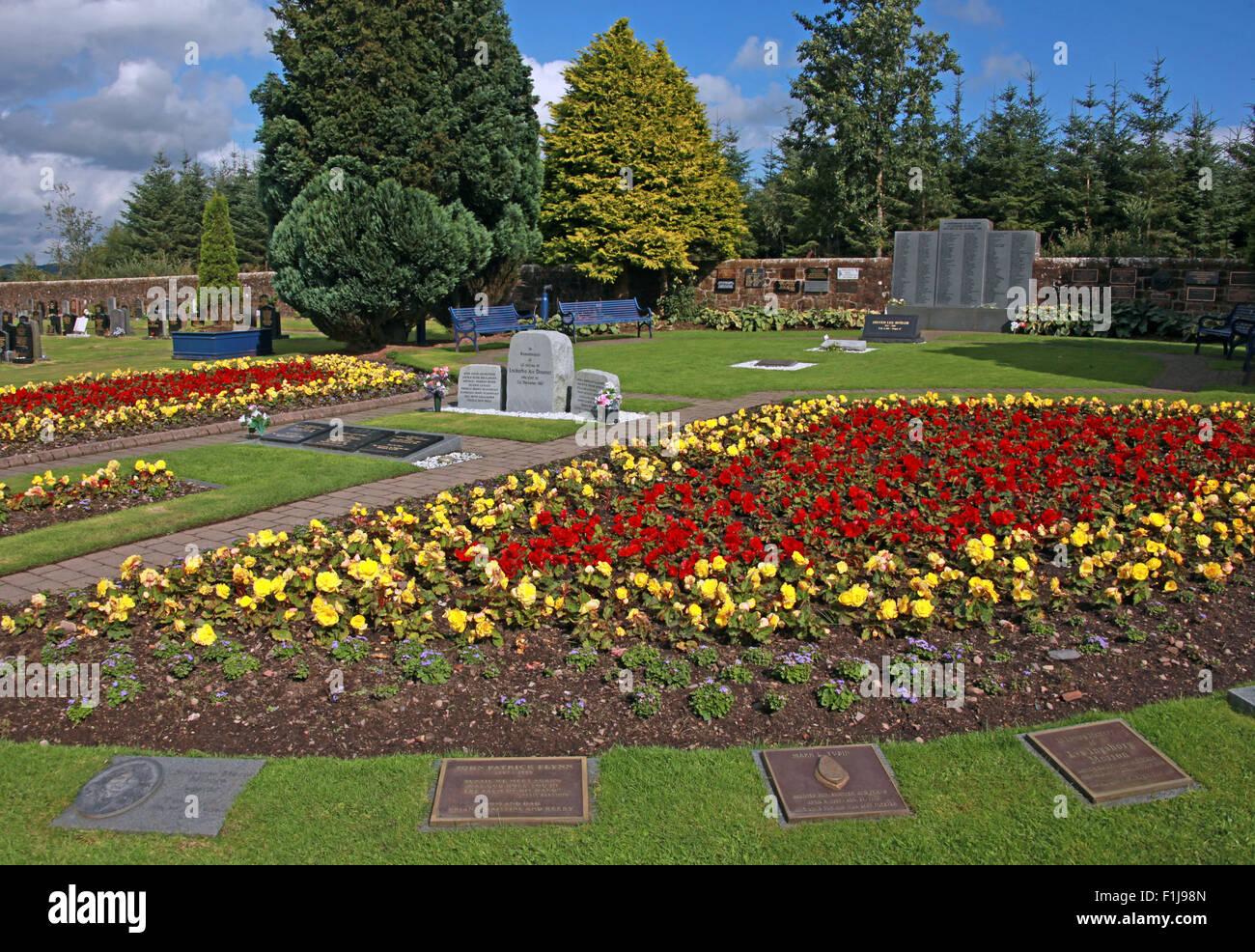 Lockerbie PanAm103 In Rememberance Memorial Garden,Pano,Scotland Stock Photo