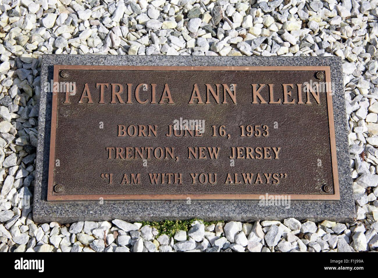 Lockerbie PanAm103 In Rememberance Memorial Patricia Ann Klein, Scotland - Stock Image