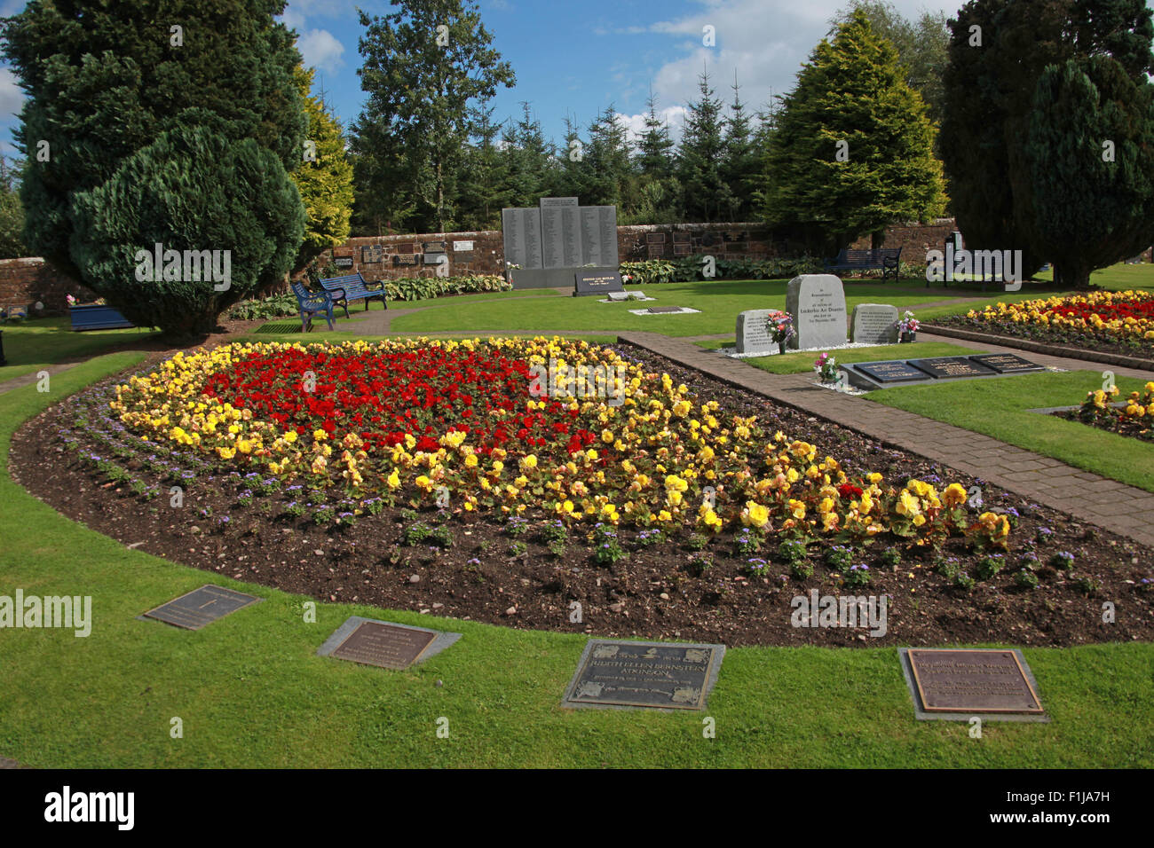 Lockerbie PanAm103 In Rememberance Memorial Garden side View, Scotland - Stock Image