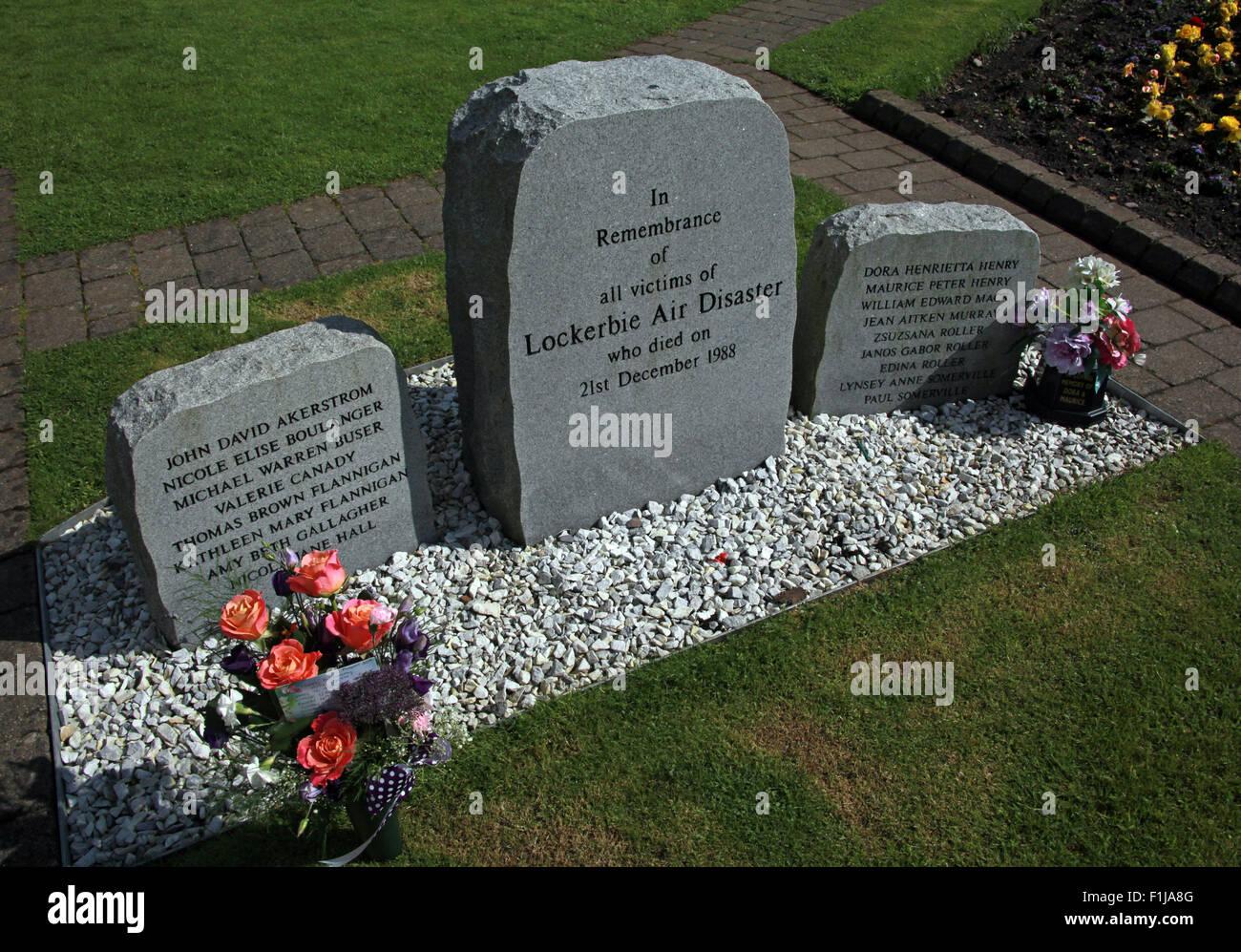 Lockerbie PanAm103 In Rememberance Memorial,Scotland Stock Photo