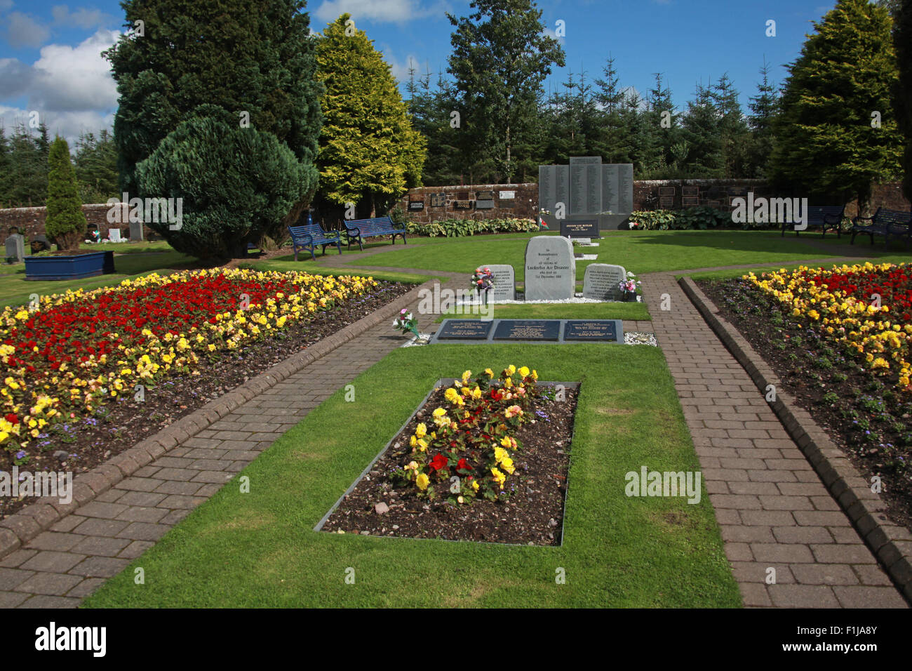 Lockerbie PanAm103 In Rememberance Memorial,Scotland Stock Photo