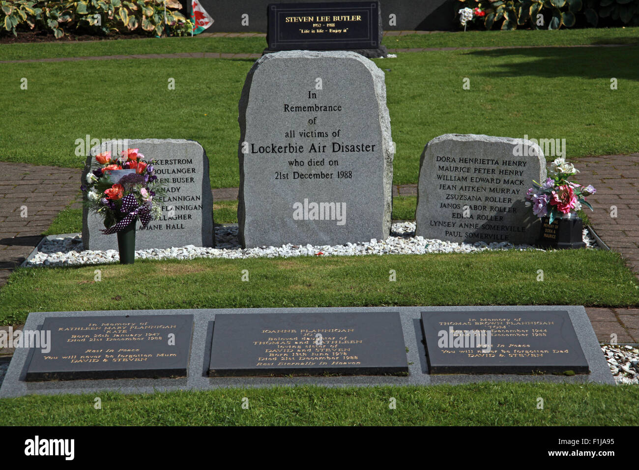 Lockerbie PanAm103 In Rememberance Memorial Stones Entrance,Scotland - Stock Image