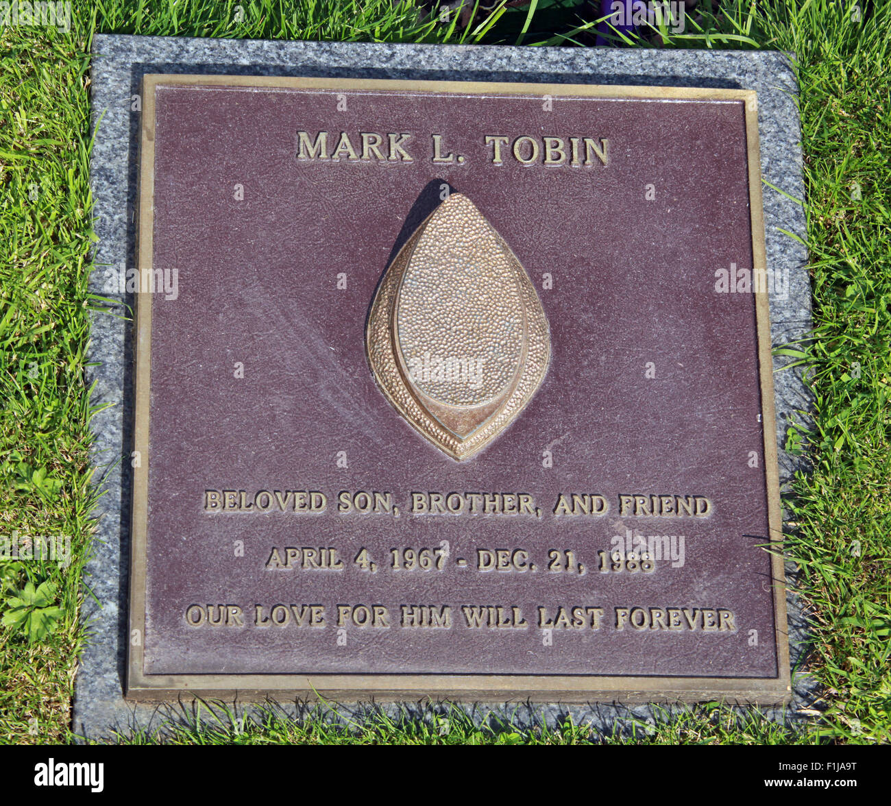 Lockerbie PanAm103 In Rememberance Memorial Mark L Tobin,Scotland - Stock Image