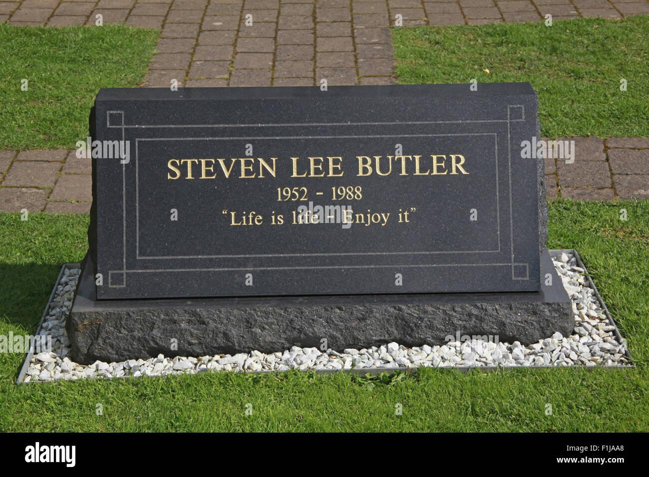 Lockerbie PanAm103 Memorial Steven Lee Butler, Scotland Stock Photo