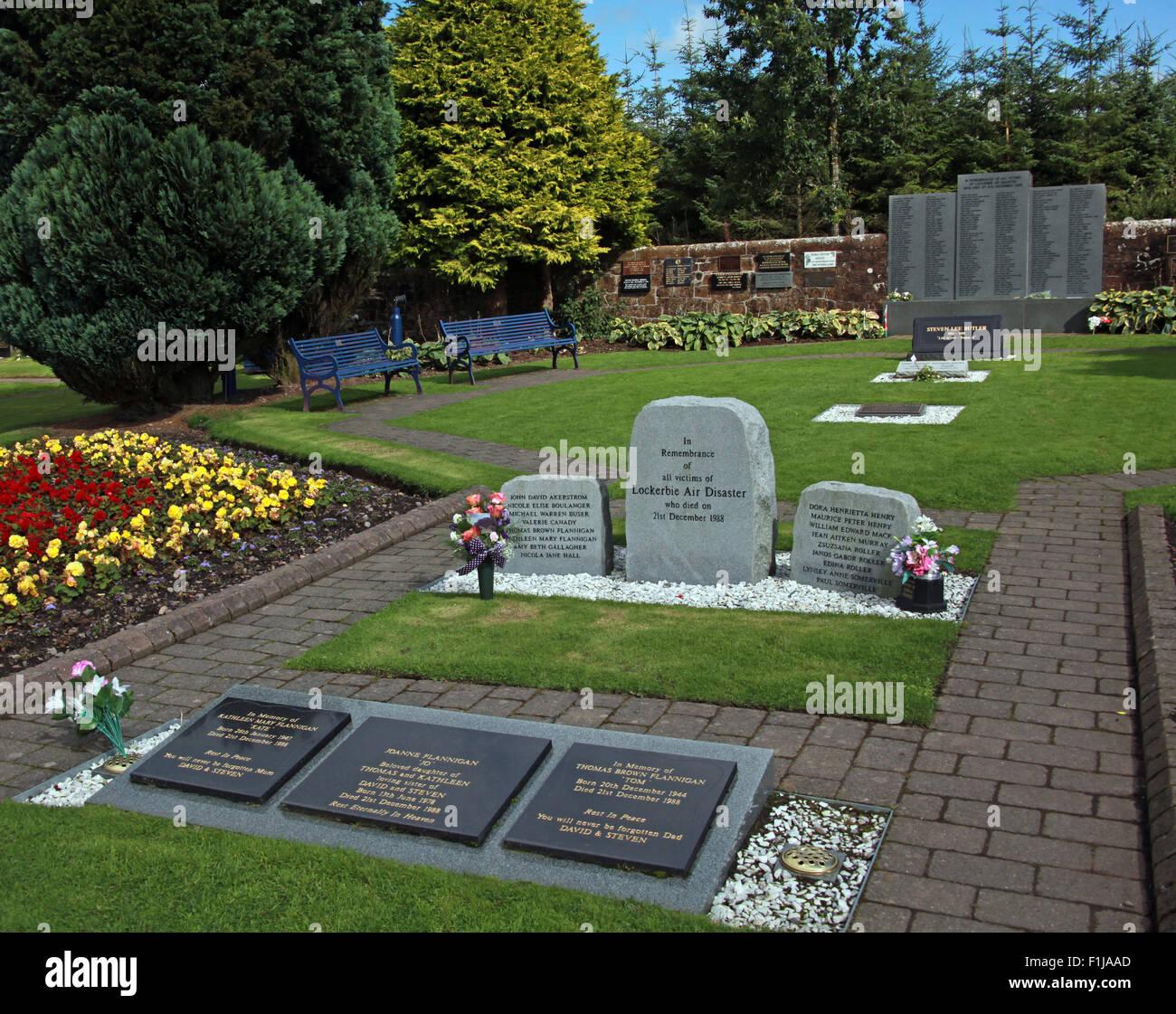 Lockerbie PanAm103 In Rememberance Memorial Garden, Scotland - Stock Image