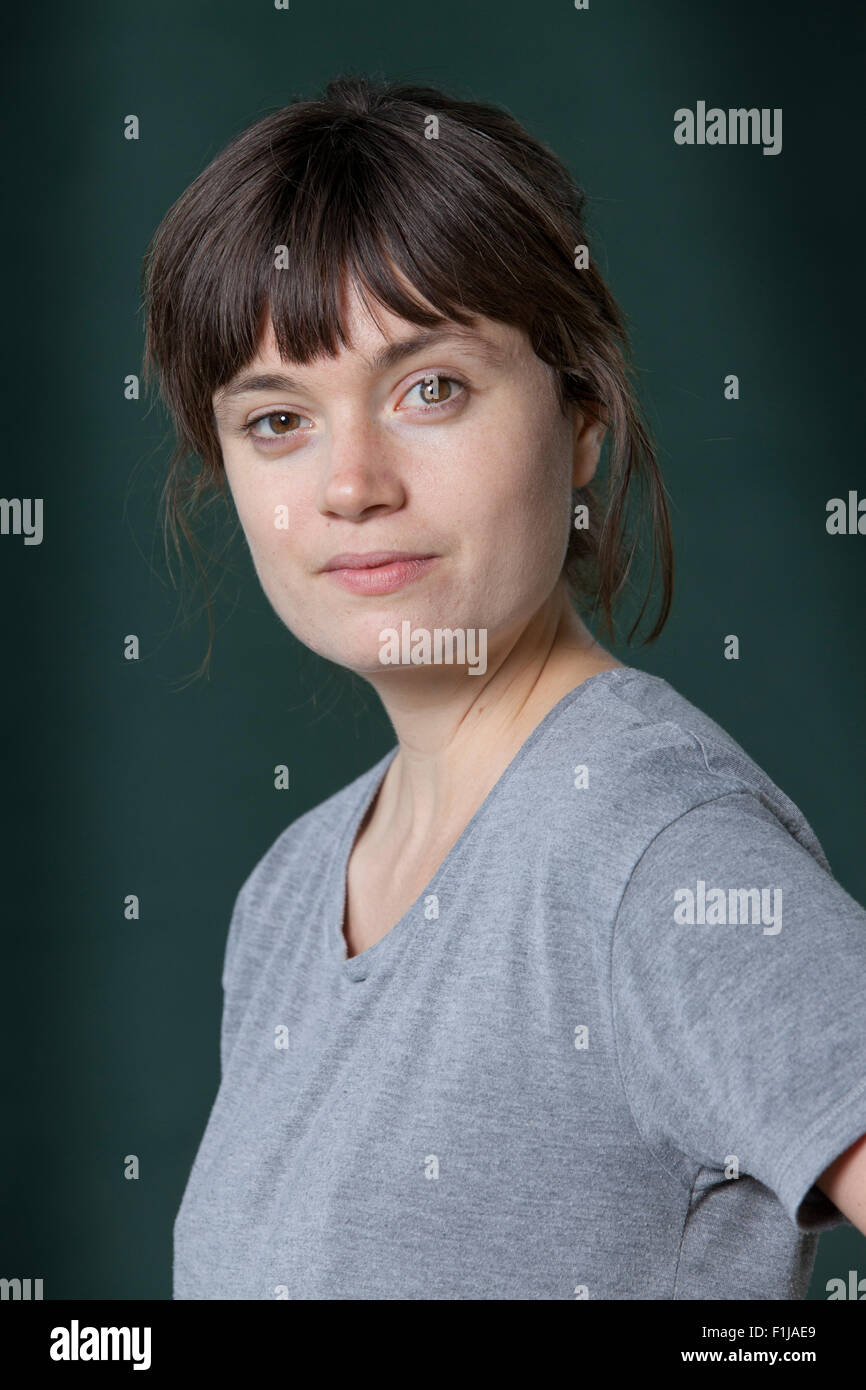Eliza K. Robertson, the Canadian writer at the Edinburgh International Book Festival 2015. Edinburgh, Scotland. - Stock Image