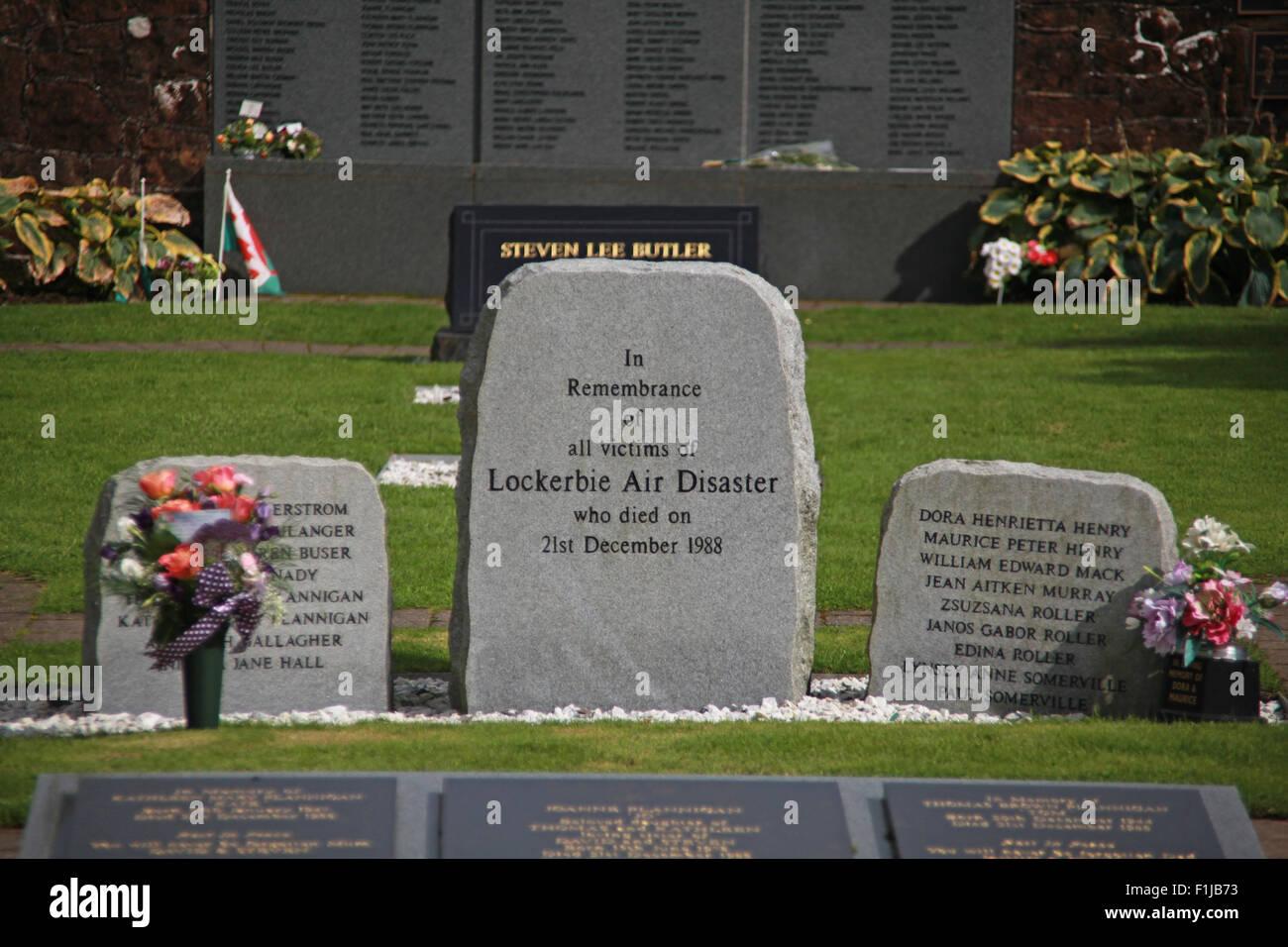 Lockerbie PanAm103 In Rememberance Memorial Stone Garden, Scotland - Stock Image