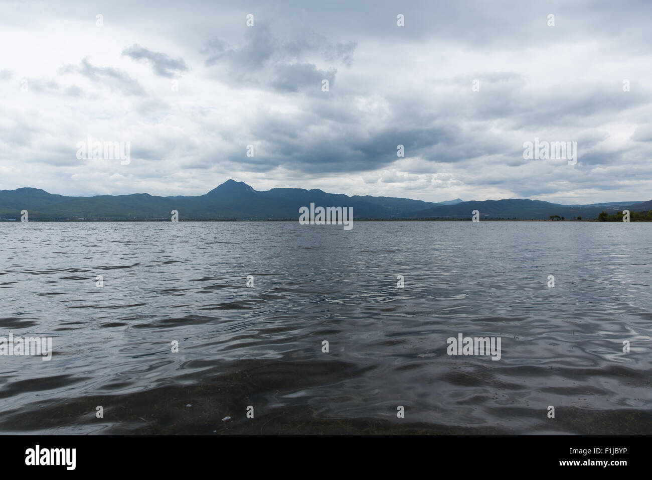 Lashihai lake in Lijiang city, Yunnan Province, China - Stock Image