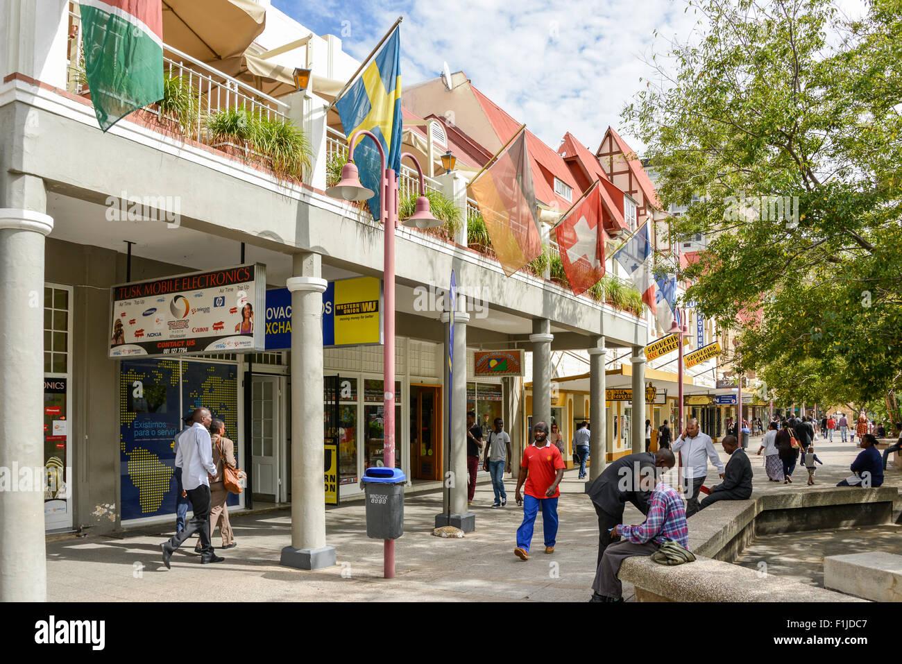 Independence Avenue, Windhoek (Windhuk), Khomas Region, Republic of Namibia - Stock Image
