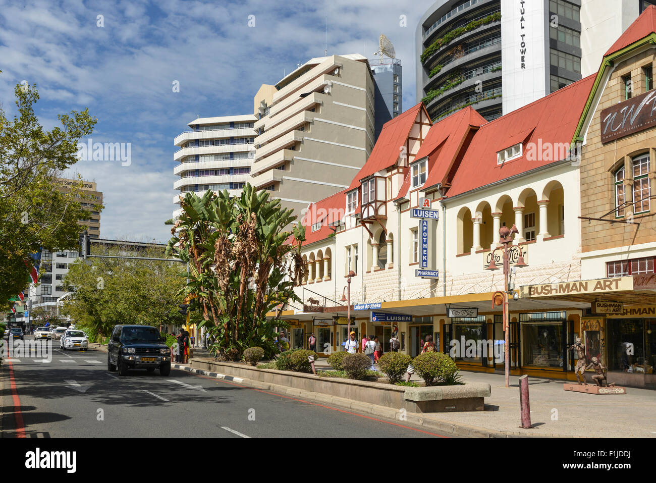 Independence Avenue, Windhoek (Windhuk), Khomas Region, Republic of Namibia - Stock Image